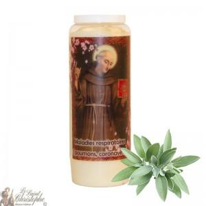 Bougie de neuvaine Saint Bernardin de Sienne parfumée à la sauge