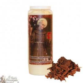 Vela de la novena de San Bernardino de Siena perfumada con sándalo
