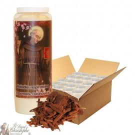 Novena Candle Saint Bernardine of Siena scented with sandalwood - 20 pieces