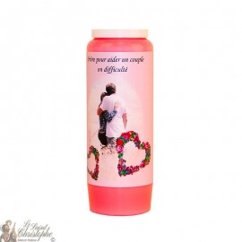 Pink Novena Candle - Helping a couple in difficulty