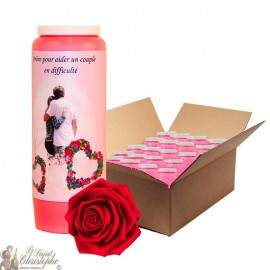 Novena Candle - Helping a couple in difficulty rose scented - 20 pieces