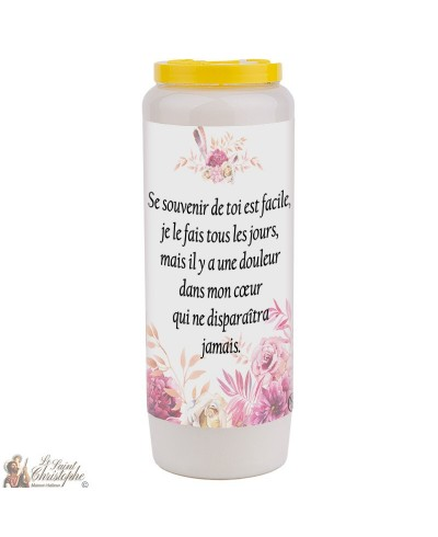 Novena candle for the deceased 2 - customizable