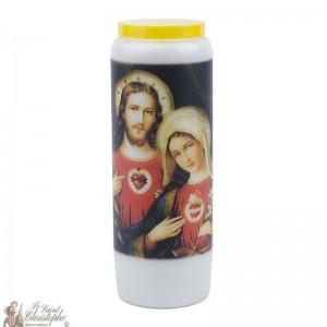 Bougies de Neuvaine Sacré Coeur de Jésus et Marie