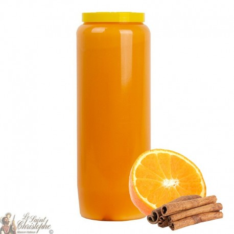 Candle of orange novena scented with orange and cinnamon