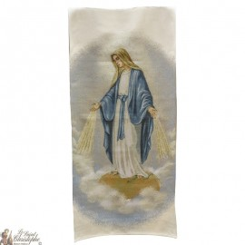 Tapestry banner of the Miraculous Virgin - 58 x 124 cm