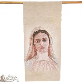 Tapestry banner of Our Lady Medjugorje - 58 x 124 cm