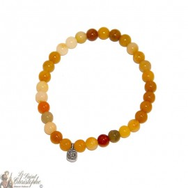 Natural yellow jade bracelet