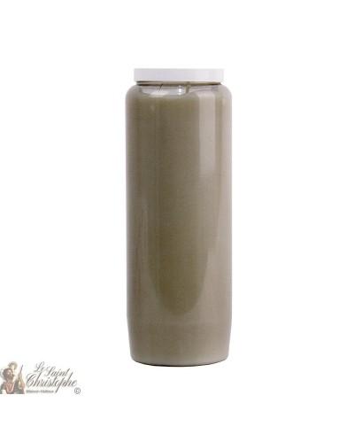 Grey novena candle