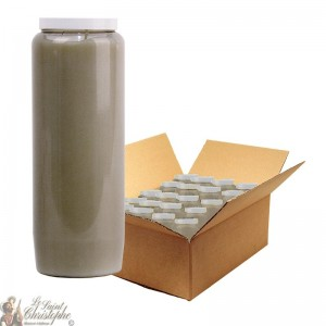 Grey novena candle - box 20 pieces