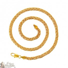24K gold-plated double interlaced links chain 55 cm