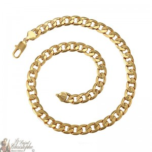 Large 24K gold-plated chain 60 cm