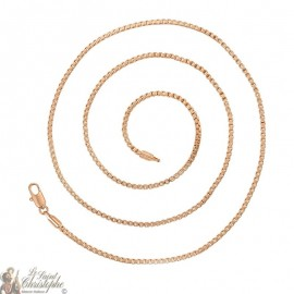 Rose gold plated square link chain 60 cm - 25mm