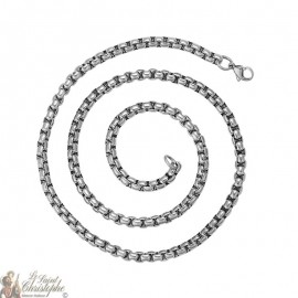 Square steel link chain 59 cm