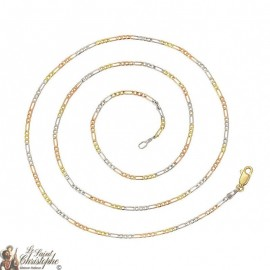 Gold and silver link chain 60 cm