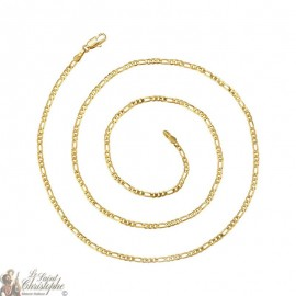 24K gold-plated chain variable links 60 cm
