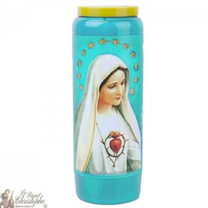 Novena candle blue to Our Lady of Fatima - prayer