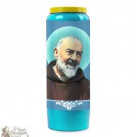 Candela della Novena Blu a Padre Pio
