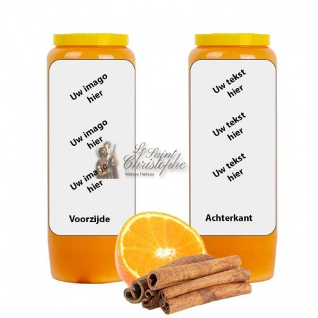 Novena candle scent of Orange Cinnamon - customizable
