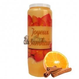 Halloween novena candle orange-cinnamon scented - Samhain