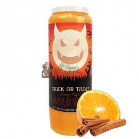Halloween novena candle orange-cinnamon scented - Trick or Treat