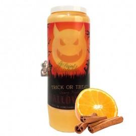 Halloween novena candle orange-cinnamon scented - Trick or Treat 2