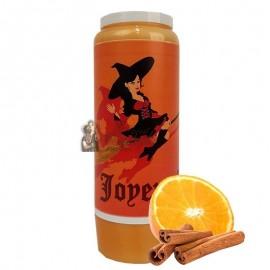 Halloween novena candle orange-cinnamon scented - Witch