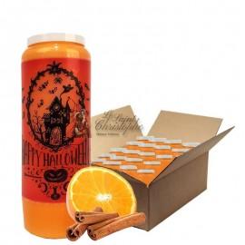 Novena candles scented orange-cinnamon Halloween manor cardboard 20 pcs