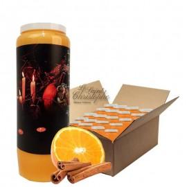 Novena candles orange-cinnamon scented Halloween Samhain 1 box 20 pcs