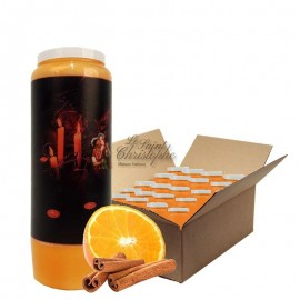 Novena candles orange-cinnamon scented Halloween Samhain 2 carton 20 pcs