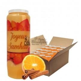Novena candles orange-cinnamon scented Halloween Samhain 3 carton 20 pcs