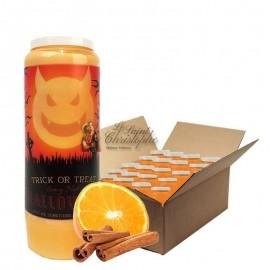 Novena candles orange-cinnamon scented Halloween Trick-Treat 2 carton 20 pcs