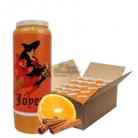 Novena candles orange-cinnamon scented Halloween Witch - carton 20 pcs