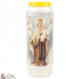 Novena Candle to the Virgin of the Scapular -  Prayer