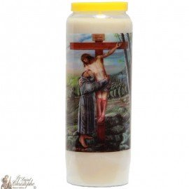 Novena Candle to the  Christ on the Cross - Multilingual Prayer