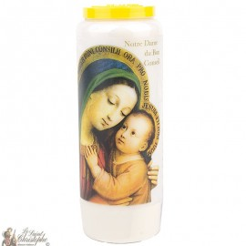 Novena Candle to Our Lady of Good Counsel - French Prayer