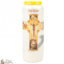 Novena Candle of the Victory Cross - French Prayer