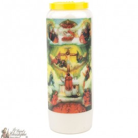 Novena Candle to the Souls of Purgatory - French Prayer