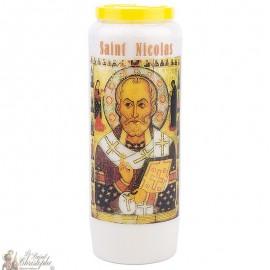 Bougie de neuvaine à Saint Nicolas modèle 1 - prière