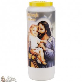 Novena Candle to Saint Joseph model 2 - French prayer
