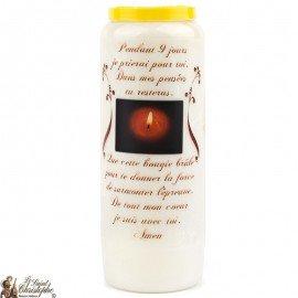 Novena Candle Nine Days Prayer - French prayer