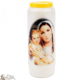 Novena candle for a future mother - French prayer