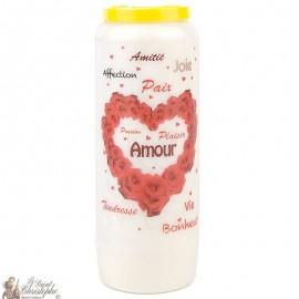 Bougie de neuvaine Saint Valentin pour l'amour - prière
