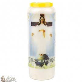 Novena candle to our lady of all peoples- German prayer