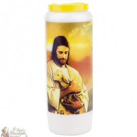 Novena Candle to the Lamb of God - French Prayer