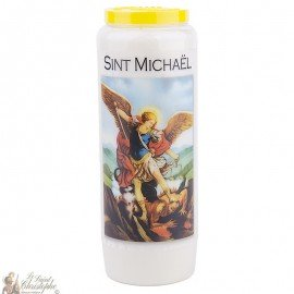 Novena Candle to Saint Michael Model 2 - Dutch Prayer