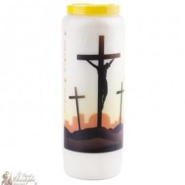 Bougie de neuvaine  au Chemin de croix  - prière