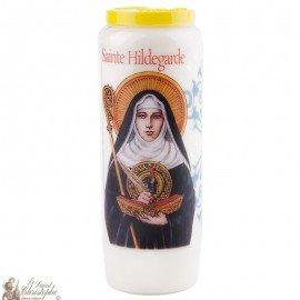 Novena candle to Saint Hildegarde - French prayer