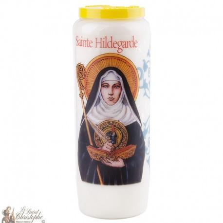 Bougie Neuvaine  à Sainte Hildegarde - prière français
