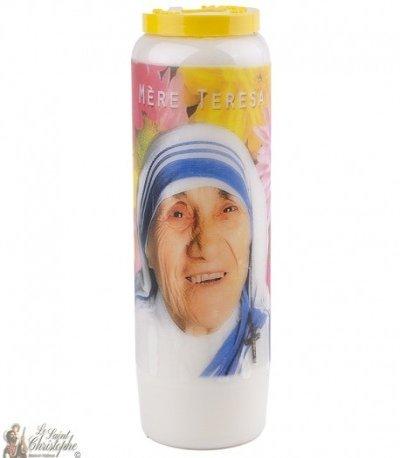 Bougie Neuvaine  à  Mère Teresa - prière  français