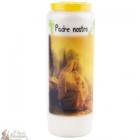 Bougie Neuvaine à  notre père - prière italien